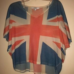 Union Jack print crop top